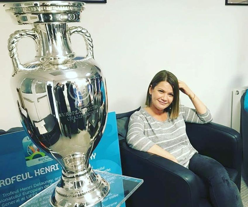 comentator femeie la fotbal Ioana Cosma